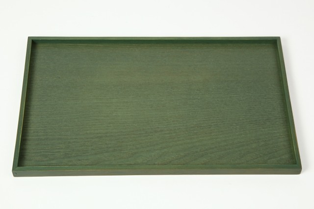 お盆 トレー 木製 30cm アイビーグリーン 長手盆 ...