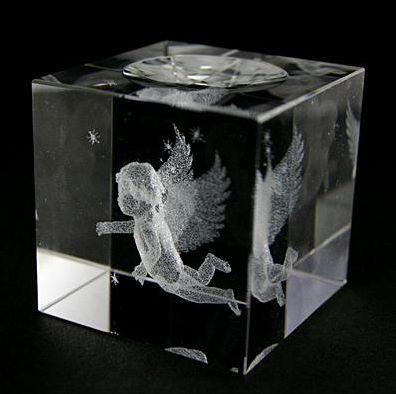 クリスタルガラス 玉台 M 天使