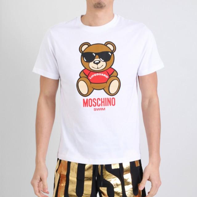 MOSCHINO モスキーノ 半袖Tシャツ 半袖 T LIFE GU...