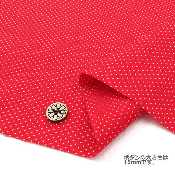 ○水玉ブロードプリント (極小)赤×白 88190-1-...