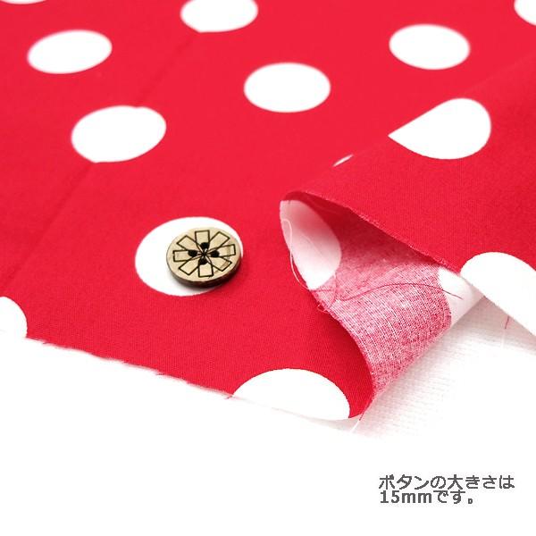 ○水玉ブロードプリント 88190-3-10(赤地×白) ...