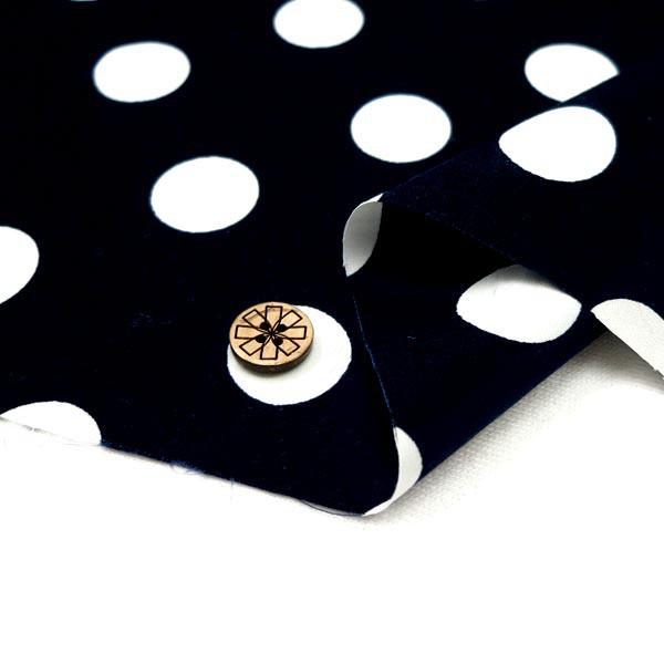 ○水玉ブロードプリント 88190-3-13(黒地×白) ...
