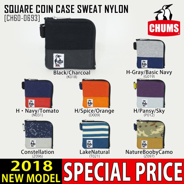 CHUMS チャムス コインケース SQUARE COIN CASE S...