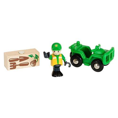 BRIO ブリオ ATVカーと荷物 木のおもちゃ 電車 ...