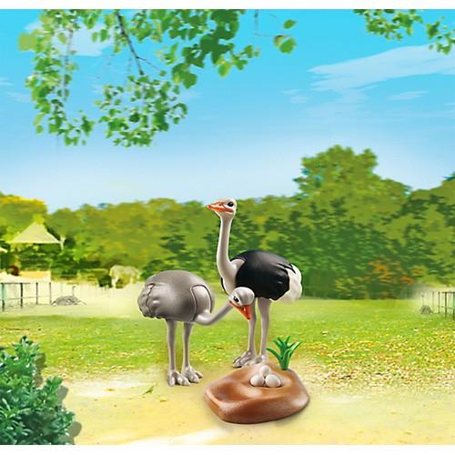 プレイモービル 動物園シリーズ ダチョウの親子...