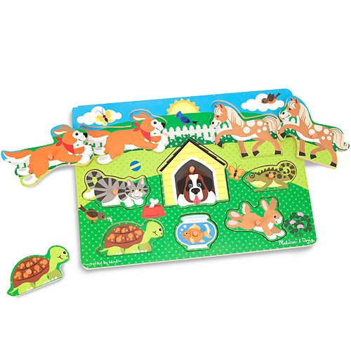 メリッサ&ダグ ペグパズル ペット 知育玩具 1...