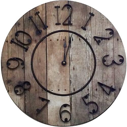 バレル クロック 時計 壁掛け おしゃれ 木製 レ...