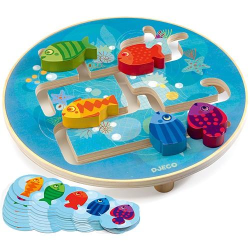 DJECO アクアリウム 知育玩具 2歳 3歳 4歳 木の...