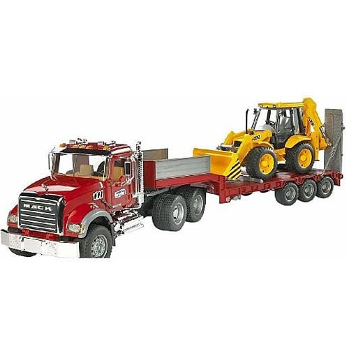 ブルーダー MACK トラック&JCB 4CX バックホー...