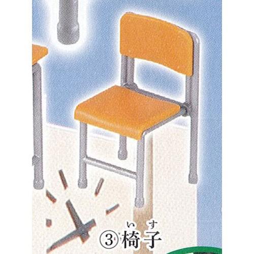 学校の机と椅子と鞄+お習字道具 3:椅子 ミニチ...