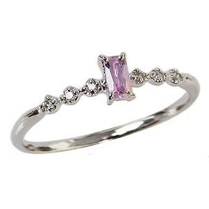 ピンクトルマリンリング ダイヤモンドリング 指輪...