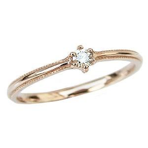 ダイヤモンド リング 一粒 ピンキーリング 指輪 ...