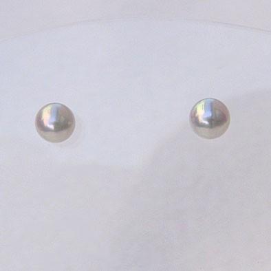 アコヤ本真珠 パール ピアス 4mm-4.5mm K14WG ホ...