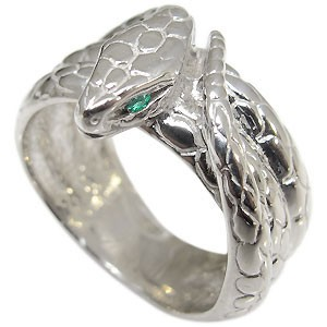 スネーク・リング・エメラルド・ヘビ・蛇・指輪