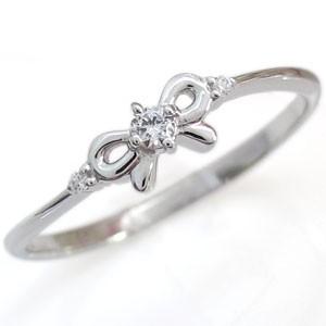 ダイヤモンド・10金・指輪・リング・リボン・リン...