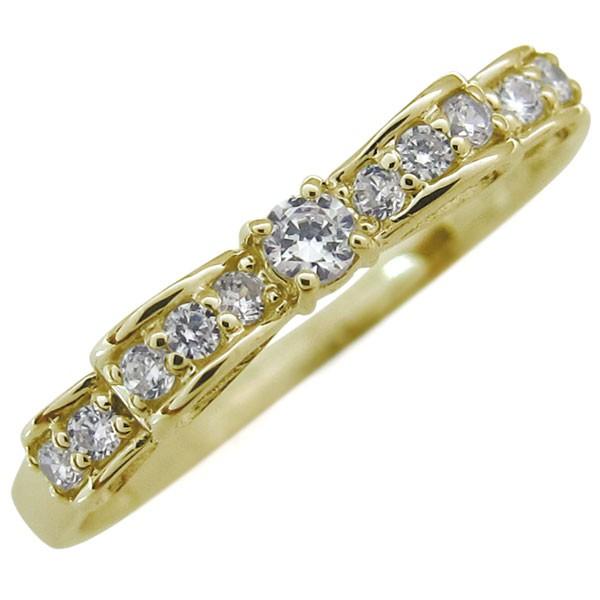 【送料無料】ダイヤモンドリング 婚約指輪 リボン...