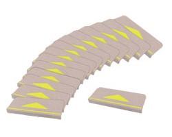 折り曲げ付階段マット 三角マーク付 15枚組/KD-...