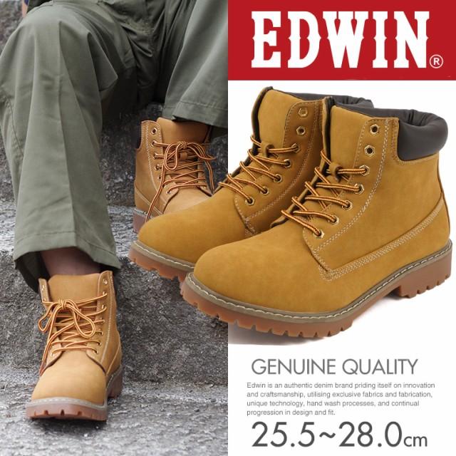 【送料無料】EDWIN ワークブーツ メンズ イエロー...