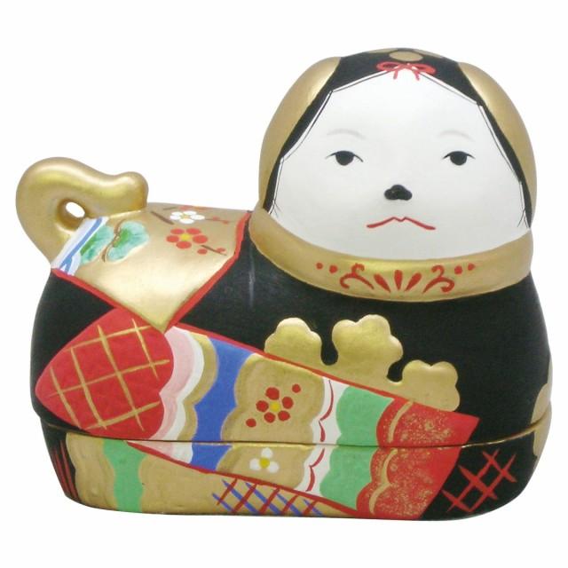 雛人形(ひな人形) 雛道具 『錦彩犬筥 黒(小・...