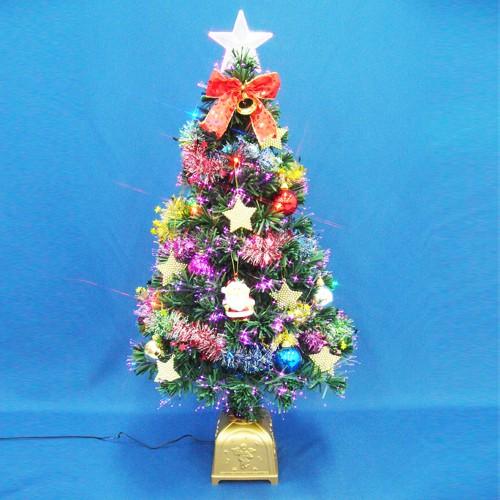 クリスマスツリー 90cmファイバーツリーセット...
