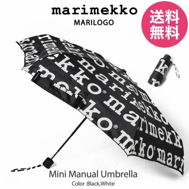 マリメッコ marimekko 折り畳み傘 マリロゴ ミニ...