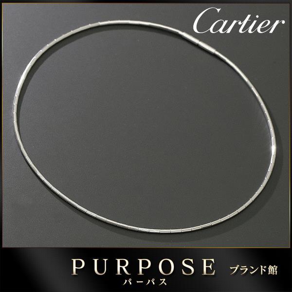 カルティエ Cartier チューブ ネックレス 38cm K1...
