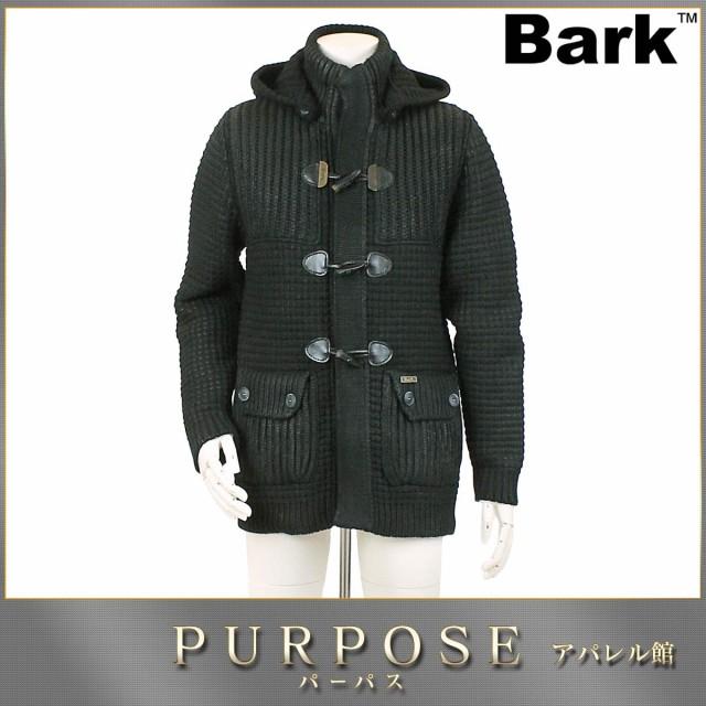 バーク Bark ニット ダッフルコート フード付き S...
