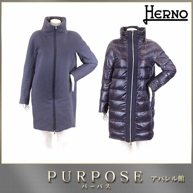 ヘルノ HERNO ダウンコート リバーシブル 中綿 パ...