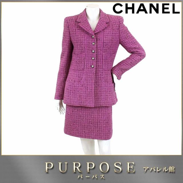 シャネル CHANEL ツィード スーツ セットアップ ...