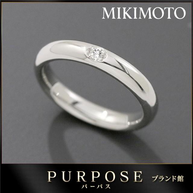ミキモト MIKIMOTO ダイヤ 0.03ct リング 7号 Pt9...