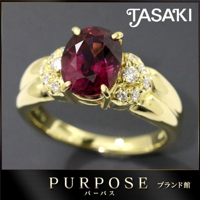 タサキ TASAKI ガーネット ダイヤ 0.12ct リング ...
