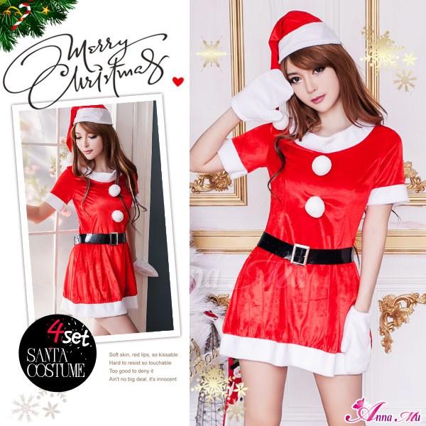 サンタ コスプレ クリスマス コスチューム サンタコス 衣装 セクシー サンタクロース ミニスカート パーティー 安い 即日 2