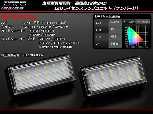 210系 クラウン ハイブリッドも対応 LED ライセン...