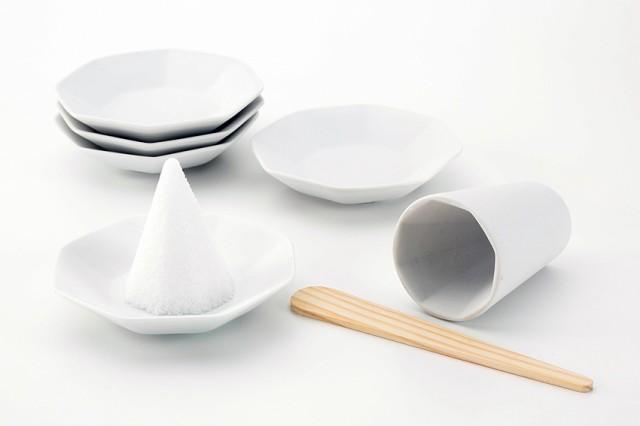 【盛塩セット】八角 盛り塩セット/八角皿5枚付...