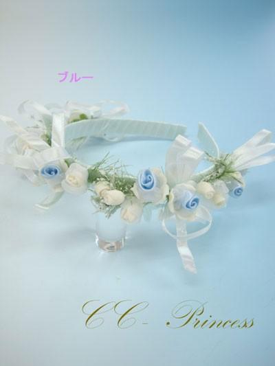 ≪花の髪飾り・ブルー≫・HD-004-B 【ヘアアクセ...