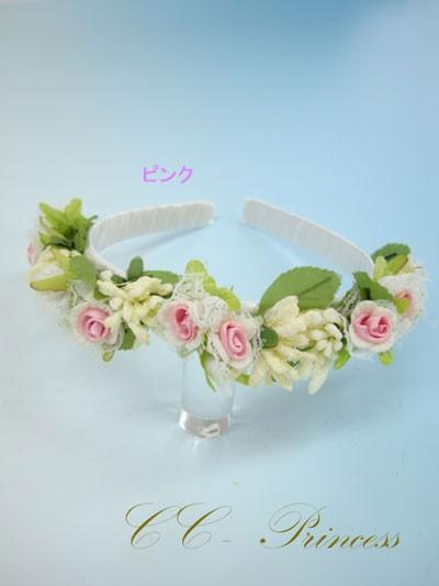 ≪花の髪飾り・ピンク≫・HD-004-P 【ヘアアクセ...
