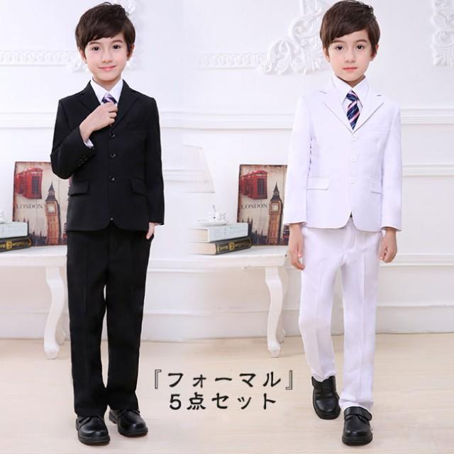 fe25949e06040 入学式スーツ 男の子スーツ キッズ フォーマル 子供 タキシード 5点セット フォーマル カジュアル 入学・
