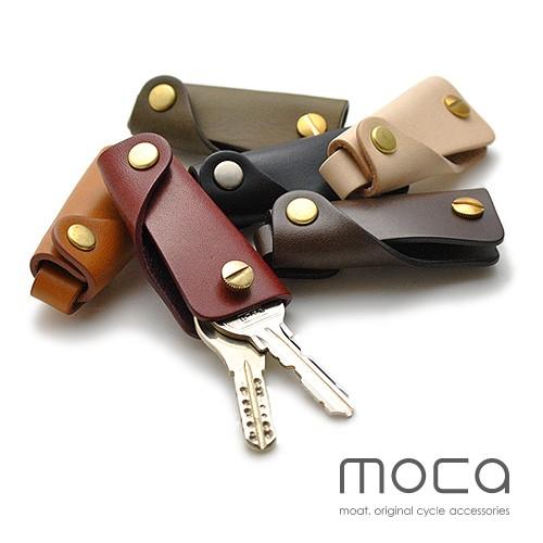 moca(モカ) スリム レザーキーケース 鍵1〜3本...