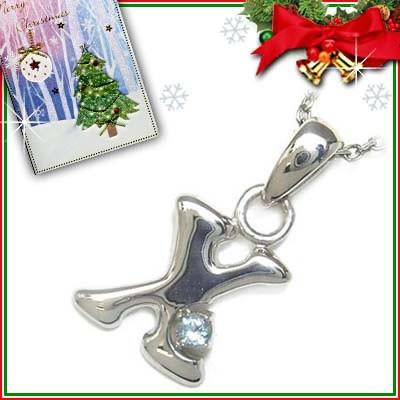 クリスマス限定Xmasカード付「X」イニシャルモチ...