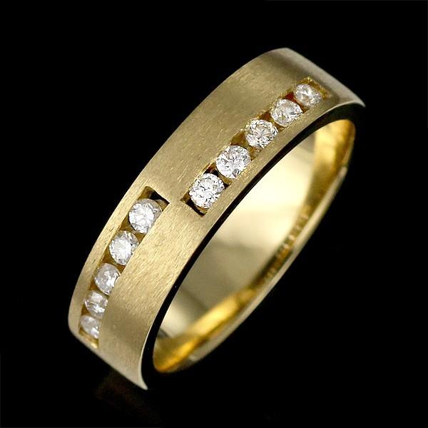 メンズ ダイヤモンド リング 指輪 イエローゴール...