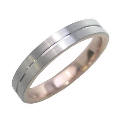 K18ホワイトゴールド・K18ピンクゴールド 結婚指...
