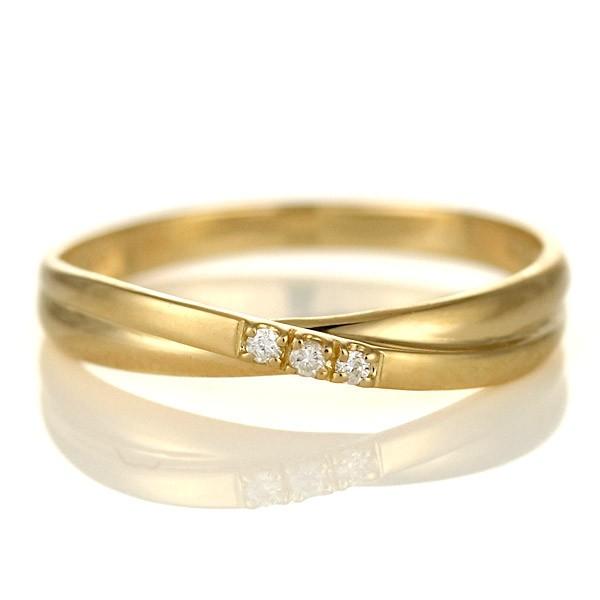 ピンキーリング 指輪 ダイヤモンド 18金 金 K18 1...