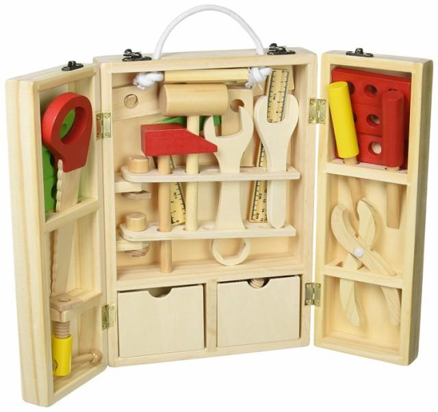 収納できる 木製ツールボックス トントン 大工さ...