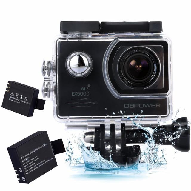 DBPOWER アクションカメラ 2インチ WIFI機能搭載 ...