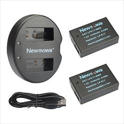Newmowa LP-E17 互換バッテリー 2個+充電器 対応...