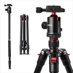 Tycka カメラ用三脚 一脚可変式&自由雲台付き...