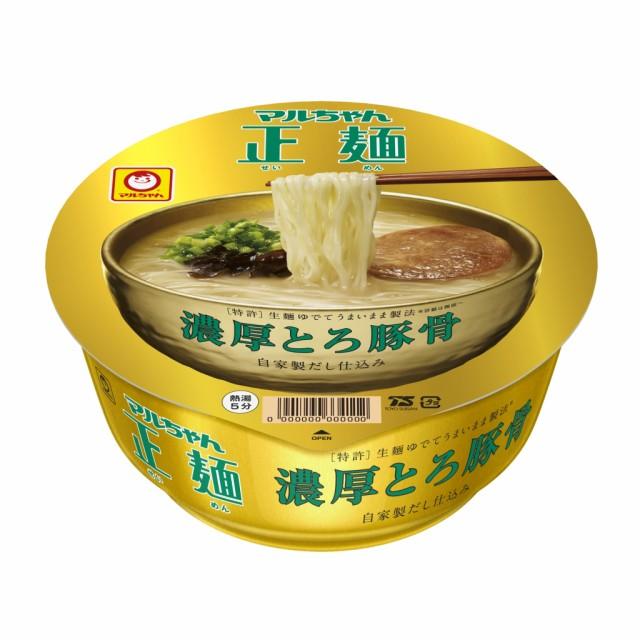 マルちゃん正麺カップ 濃厚とろ豚骨 12食入り×...