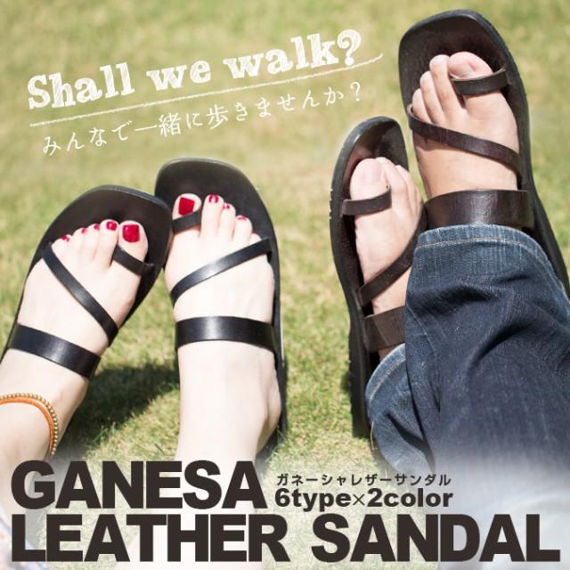 レザーサンダル 本革 ファッション 靴 サンダル ...