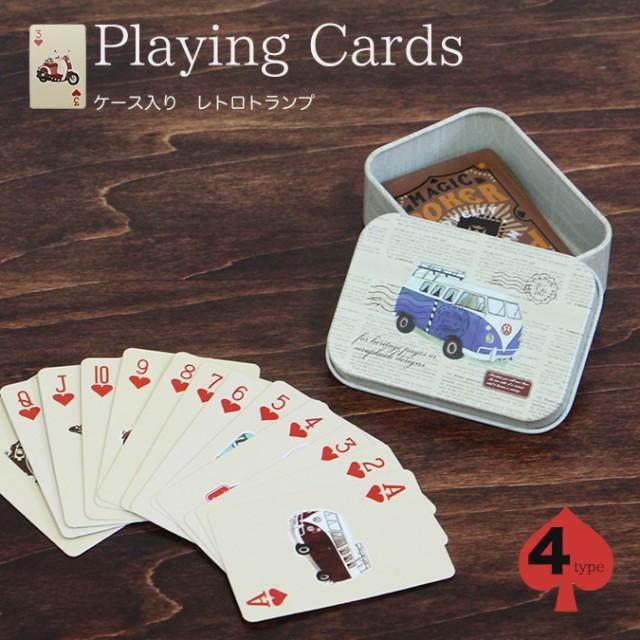 レトロトランプ 缶ケース付き | カードゲーム Pla...