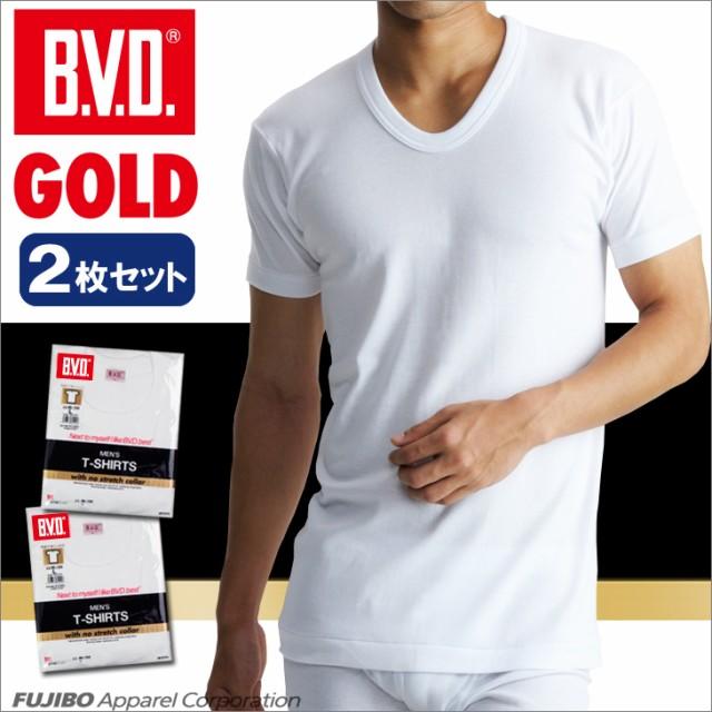【30%OFF】B.V.D.GOLD U首半袖シャツ 2枚セット S...